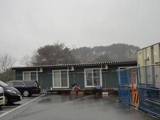 山の上にも仮設住宅がありました。